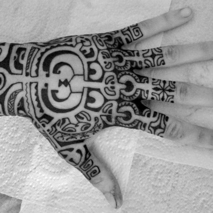 Polynesian Hand & Foot Tattoos
